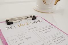 Freebie | Get Shit Done To Do List Printable
