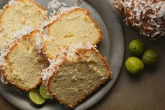 Lemon coconut pound cake