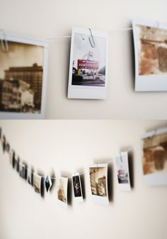 A Polaroid Clothesline #decor #styling #interior