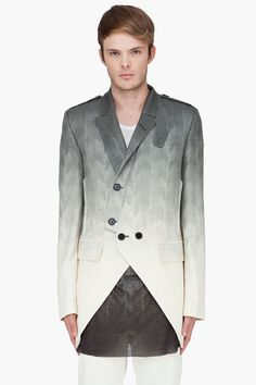 ANN DEMEULEMEESTER Ivory Harris Herringbone Blazer - Don't know if Im completely sold, interesting details nonetheless.