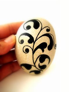 Painted Stone  Painted Rock  Original hand by MalenaValcarcel, $20.00