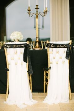 Bride and Groom Sweetheart Chairs | Mustard Seed Photography | TheKnot.com