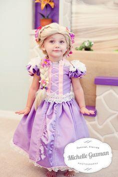 ...rapunzel dress with rapunzel wig...so cute!