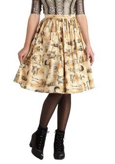 Endoskeletal Hand Jive Skirt | Mod Retro Vintage Skirts | ModCloth.com
