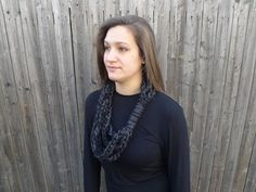 Charcoal Permawrap Scarf on Etsy, $23.00