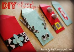 DIY Gift Card Envelopes! {Template Included!}