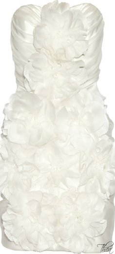 Marchesa ● Peony appliquéd dress  jaglady