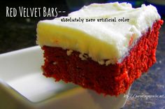 Red Velvet Bars with NO food dye