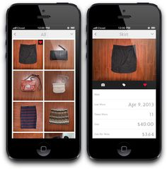 Closet App Lets you mix and match different outfits with clothes you own!
