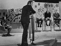 """""""The Dating Game"""" TV show with Jim Lange, who hosted from '65-'80."""