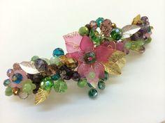 Wire wrap jewelry handmade barrette hair clip  by FlowerRainbow