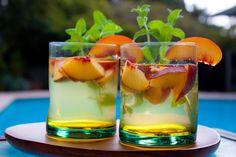 White wine and peach sangria
