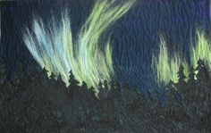 Northern Lights II Art Quilt Needle Felted and by KathyKinsella