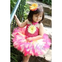 Summer Splash Pink & Yellow Petutti Tutu $55.00