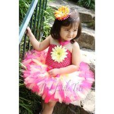 Summer Splash Pink & Yellow Petutti Tutu $55.00