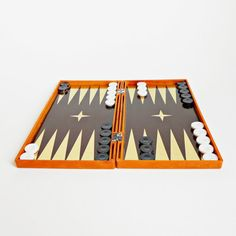 Vintage magnetic backgammon game
