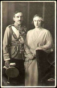 King Alexander I and Queen Maria of Yugoslavia