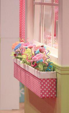 Indoor window box for girls room, too cute...