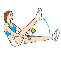 How to get a FLAT BELLY with a tennis ball (it's fun... try it) ABS!