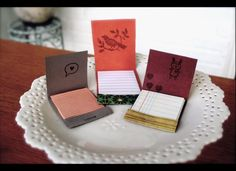 Craft some adorable matchbook notebooks from your favorite matchbooks and scrap paper.