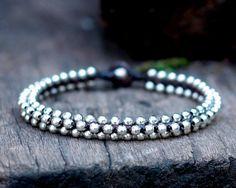 Silver Bead Anklet by brasslady on Etsy, $9.00