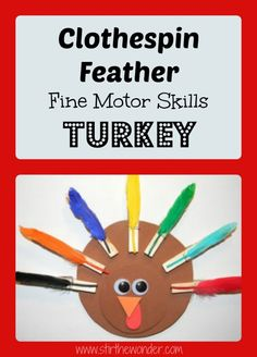 Clothespin Feathers Turkey from Stir the Wonder