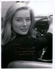Tania Mallet as Tilly Masterson in 'Goldfinger'.