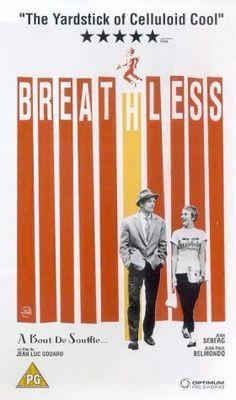Seen. Breathless (1960) 斷了氣    法國新浪潮電影大師高達,反類型、顛覆傳統類型片,反傳統跳接風格、大量經典爵士樂的法國新浪潮經典之片,風格十足    電影美學的更新,甚少是因為製作預算或技術難度;相反的,多半是因理念與實踐的配合,證明了創作的可能潛力。以高達的《斷了氣》為例,它有個比好萊塢犯罪類型還簡單的故事,卻在高達有限的預算和革命性的創意中,成了電影史上的不朽經典。