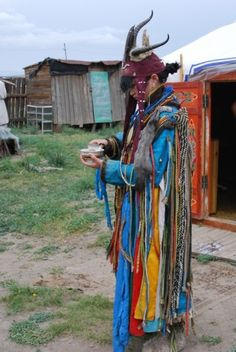 Female Shaman in Mongolia