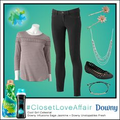This Cool Girl Celestial look was inspired by Downy Infusions Sage Jasmine and Downy Unstopables Fresh. With its flirtatious spin to the typical sweater, this look will inspire you and your closet! To shop this look, visit the LC Lauren Conrad collection available only at Kohl's. To register for the #ClosetLoveAffair sweepstakes visit https://downy.promo.eprize.com/pinterest/.