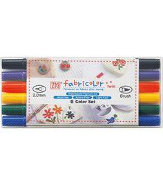 twin marker, marker 6pkg, fabric marker, fabricolor twin