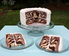 How to Make a Zebra Striped Cake