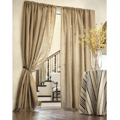 burlap curtains from Ballard