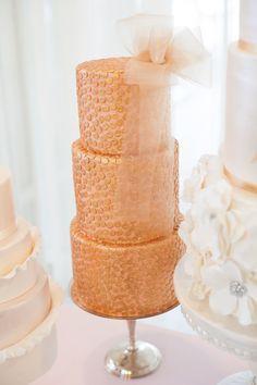 pretty rose gold cake