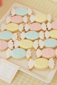 Bonbon sugar cookies. Soft and pretty.