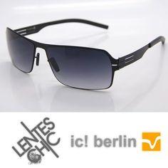 Lentes Sol Ic! Berlin Model Jesse Marco Negro Lente Negro - $790,00