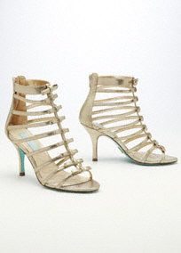 Blue by Betsey Johnson Multi Bow T Strap Cage Sandal, Style SBTOSS. #davidsbridal #shoes #homecoming