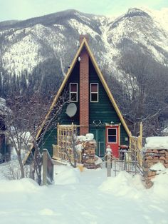 A-Frame in the snowy mountains