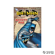 party favors, activ pad, birthday parti, 4th birthday, superhero birthday, superhero parti, batman parti, 4th bday, batman bday