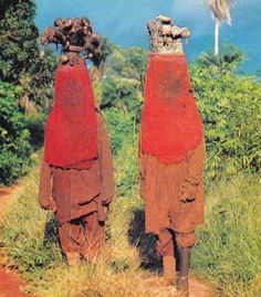 Masked witch doctors, Sierra Leone