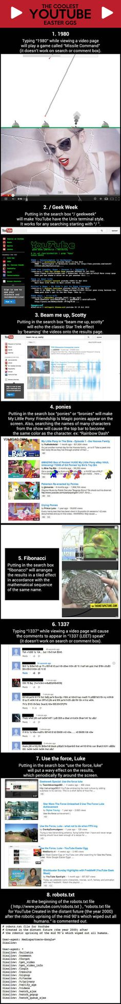 The Coolest YouTube Easter Eggs…