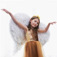 Diy angel wings ail dang, angel wings, des ail, créer des, children angel, christma craft, angels, feather, diy
