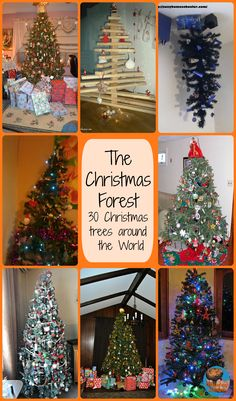 The Christmas Forest - 30 Christmas Trees Around the World (from Glittering Muffins)