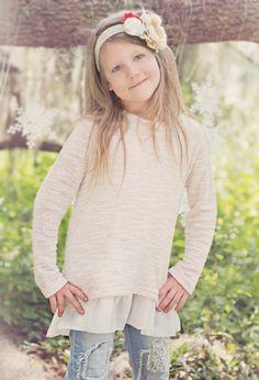 Tween Chiffon Hem Sweatshirt Preorder 7 to 14 Years