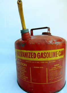 Vintage 5 Gallon Eagle Manufacturing Company Galvanized Gasoline Can 1930 1940 1950 1930s 1940s  1950s 1930's 1940's 1950's Vintage Antique 50 To 75 Years automotive vintage gasoline gas can galvanized eagle collectivles garage car West Virginia Made in USA model 505 gallon galvanized metal 26 gauge steel