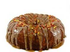 Skinny Fall Apple Cake With Caramel Glaze! So yummy and easy to make since using a cake mix! Each slice, 220 calories, 5 grams of fat and 6 Weight Watchers POINTS PLUS. Without glaze, 5 WW POINTS PLUS. http://www.skinnykitchen.com/recipes/skinny-fall-apple-cake-with-caramel-glaze/