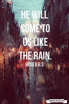 thunderstorms. the whole passage surrounding this verse is just beautiful! a must read!