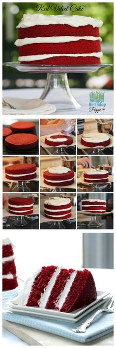 Red Velvet Cake - an easier and just as delicious version of the classic.  www.simplysated.com