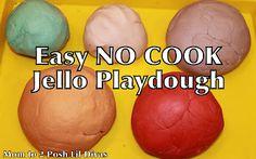 Jello Playdough (easy, no cook)