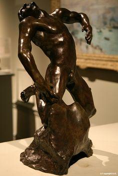 Falling Man by Auguste Rodin.  Art Experience NYC  www.artexperiencenyc.com